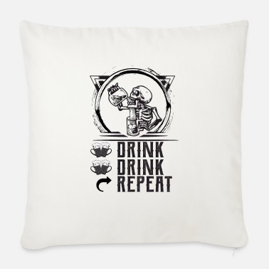 Drink DRINK DRINK REPEAT - Sofa pillow with filling 45cm x 45cm