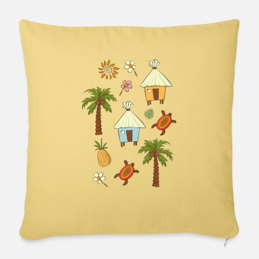 Tropical tropics - Sofa pillow with filling 45cm x 45cm