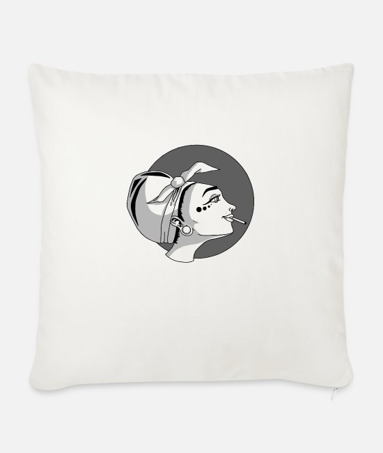 Hardstyle Pillow Cases - Girl - Sofa pillow with filling 45cm x 45cm natural white