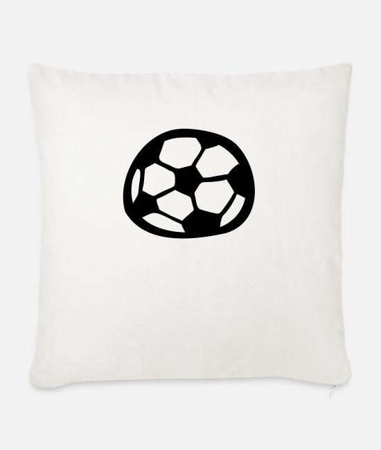 Comic Style Pillow Cases - Soccer - Sofa pillow with filling 45cm x 45cm natural white