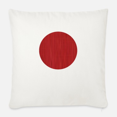 Texturas Red Circle - Sofa pillow with filling 45cm x 45cm