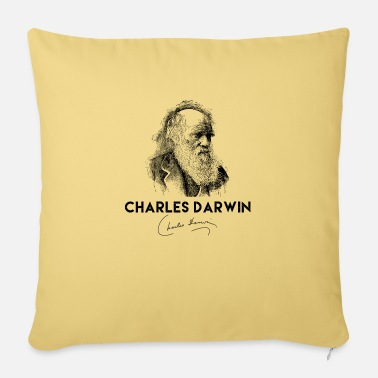 Charles Darwin Darwin, Charles Darwin, Darwin portrait, Darwin si - Sofa pillow with filling 45cm x 45cm