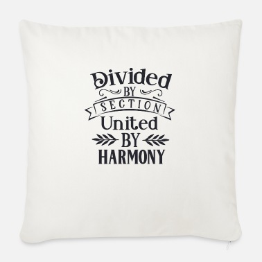 Brass Band Divided by section united by - Sofa pillow with filling 45cm x 45cm
