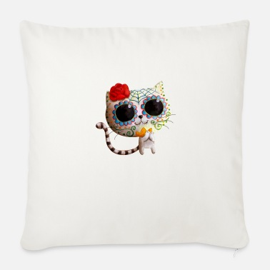 Cute The Day of The Dead Cute White Cat Hoodies & - Sofa pillow with filling 45cm x 45cm