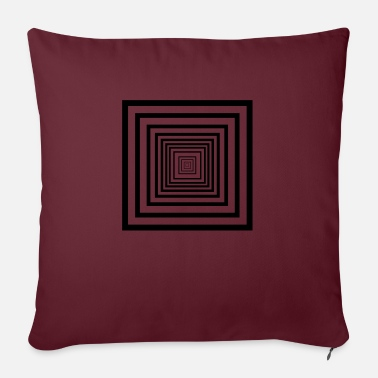 Rectangle rectangles - Sofa pillow with filling 45cm x 45cm
