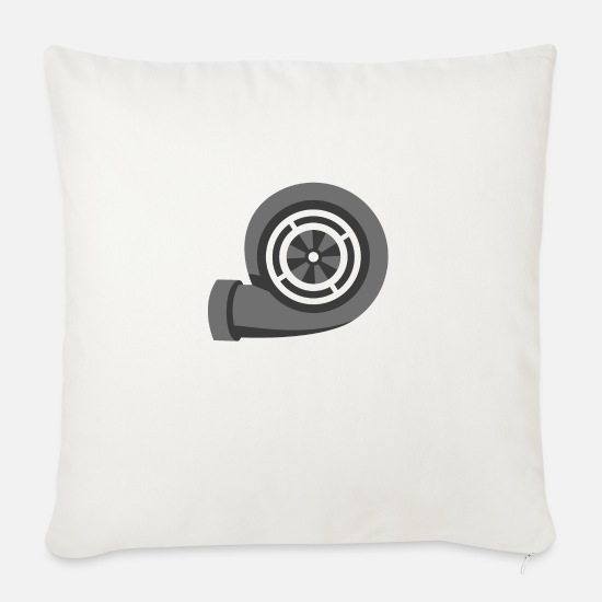 Motor Pillow Cases - JDM Turbo Boost | T-shirts JDM - Sofa pillow with filling 45cm x 45cm natural white