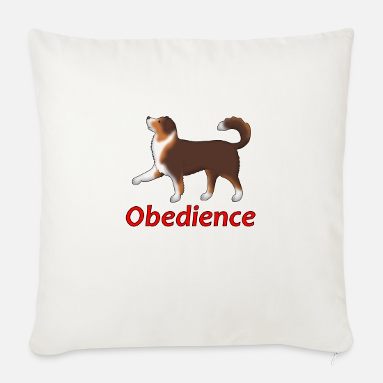 Obedience Pillow Cases - Obedience AS foot - Sofa pillow with filling 45cm x 45cm natural white