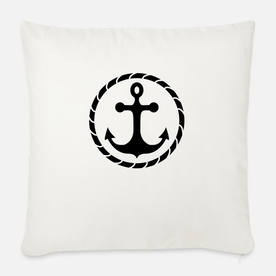 Fisherman Pillow Cases - anchor - Pillowcase 17,3'' x 17,3'' (45 x 45 cm) natural white