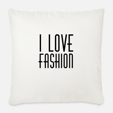 I LOVE FASHION 90s STYLE RETRO 1990 90ies PARIS - Sofa pillow with filling 45cm x 45cm