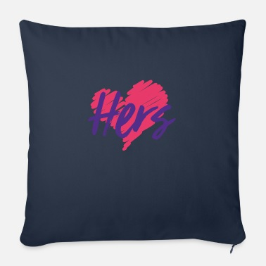 Valentines Love - Hers, His - Sofa pillow with filling 45cm x 45cm