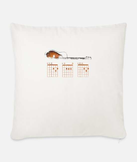 Father's Day Pillow Cases - Funny Guitar Dad Chord Shirt Father s Day Gift Gui - Sofa pillow with filling 45cm x 45cm natural white