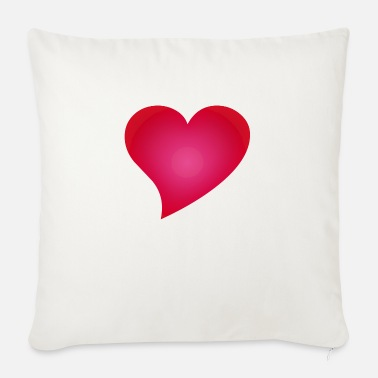 Cuore herz / heart / coeur / cuore / herz - Soffkudde med stoppning 44 x 44 cm
