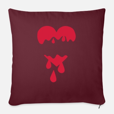 Blood Drop Heart torn blood drop - Sofa pillow with filling 45cm x 45cm