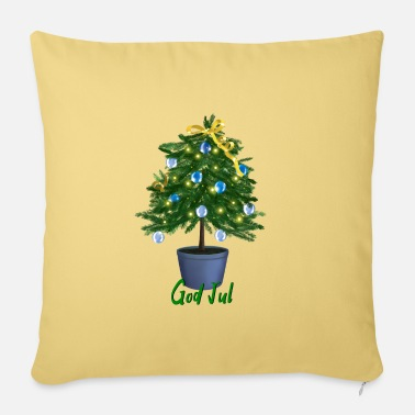 Secret Little Christmas tree - God Jul - Sofa pillow with filling 45cm x 45cm