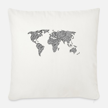 World World map - Sofa pillow with filling 45cm x 45cm