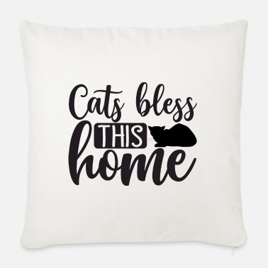Blessed Home Cats bless this home - Sofa pillow with filling 45cm x 45cm