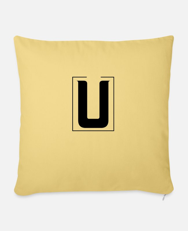 Mateo Pillow Cases - U by Mateo - Sofa pillow with filling 45cm x 45cm washed yellow