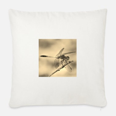 Sepia Dragonfly in sepia - Sofa pillow with filling 45cm x 45cm