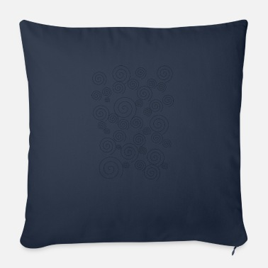 Sleek Sleek simple swirls - Sofa pillow with filling 45cm x 45cm