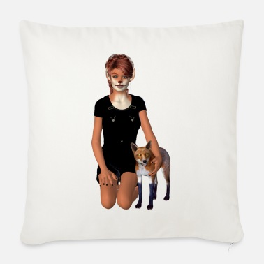 Website Fox girl - Sofa pillow with filling 45cm x 45cm