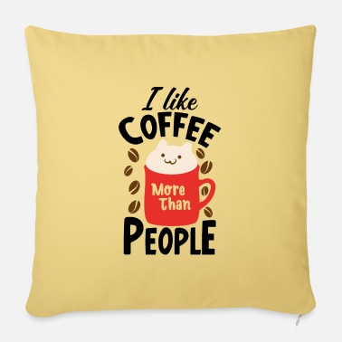Grumpy In The Morning I like coffee gift mug - Sofa pillow with filling 45cm x 45cm