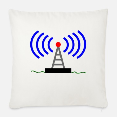 Radio Tower Radio radio tower waves communication - Sofa pillow with filling 45cm x 45cm