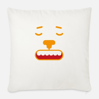 Language Face emotion facial expression feeling gift feeling angry - Sofa pillow with filling 45cm x 45cm