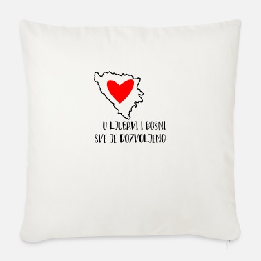 Herzegovina ljubavi bosna - Sofa pillow with filling 45cm x 45cm