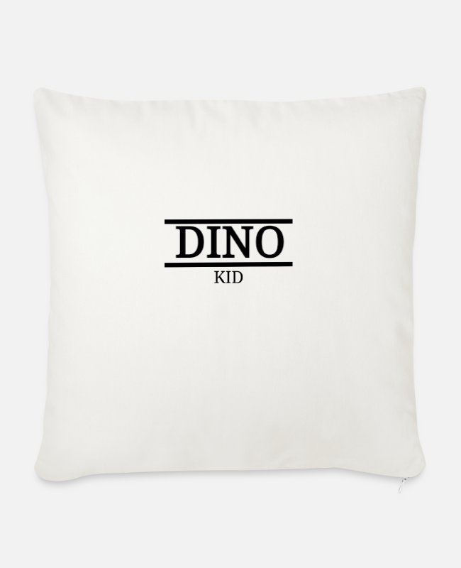 Dinosaurs Pillow Cases - Dino Kid dinosaur kids motif - Sofa pillow with filling 45cm x 45cm natural white