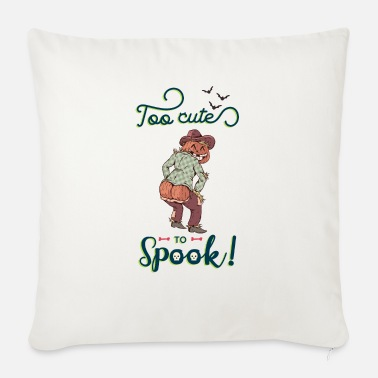 Jack-o-lantern Too cute to spook - Sofa pillow with filling 45cm x 45cm