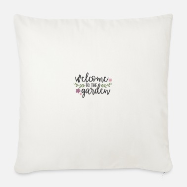 Boy Welcome to the garden - Sofa pillow with filling 45cm x 45cm