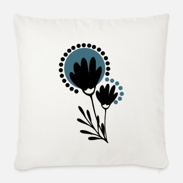 Scandi flowers - Sofa pillow with filling 45cm x 45cm