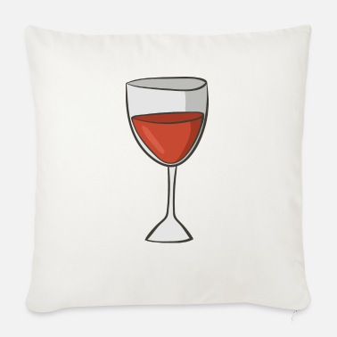 Red Wine red wine - Sofa pillow with filling 45cm x 45cm