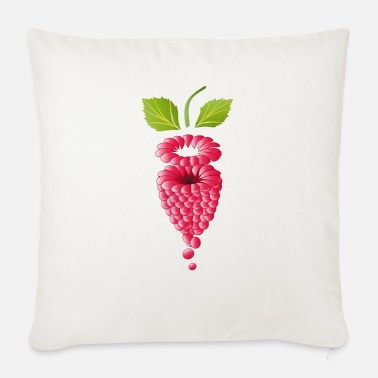 Mature floating pink ripe raspberry - Sofa pillow with filling 45cm x 45cm