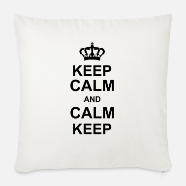 Keep Calm keep calm and calm keep kg10 - Sofa pillow with filling 45cm x 45cm