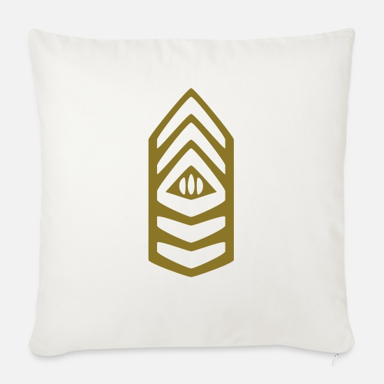 Army Pillow Cases - Insignia Command Sergeant Major - Sofa pillow with filling 45cm x 45cm natural white