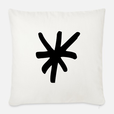 Asterisk asterisk - Sofa pillow with filling 45cm x 45cm