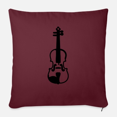 Violing Design violin - Sofa pillow with filling 45cm x 45cm