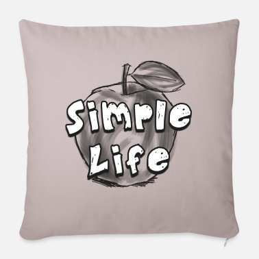 Healthy Life Simple life, healthy life! funny apple fruit - Sofa pillow with filling 45cm x 45cm