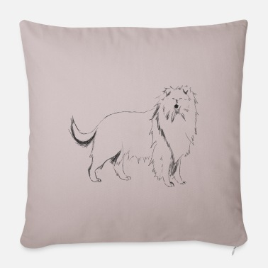 Long-haired Long-haired Herd Dog Long-haired Collie - Sofa pillow with filling 45cm x 45cm