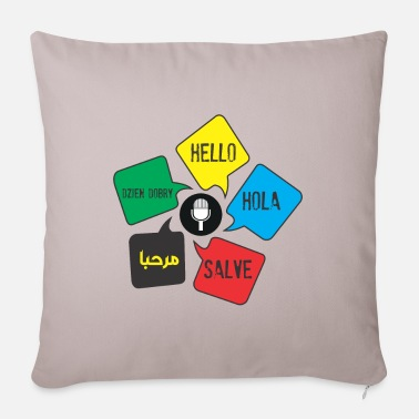 Languages Languages - Sofa pillow with filling 45cm x 45cm
