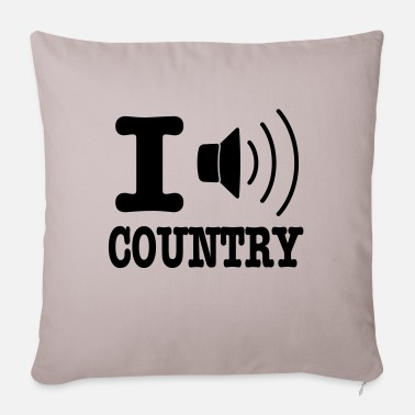 Country I music country / I love country - Sofapude med fyld 44 x 44 cm