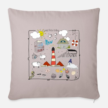 Sankt Peter-Ording love - Sofa pillow with filling 45cm x 45cm
