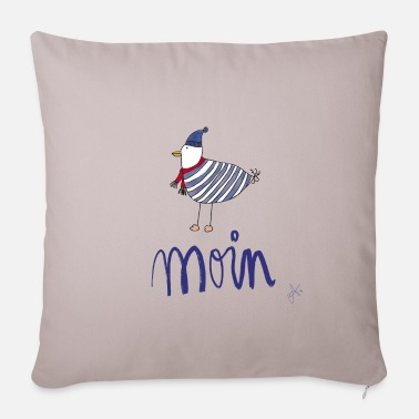 Moin seagull striped shirt - Sofa pillow with filling 45cm x 45cm
