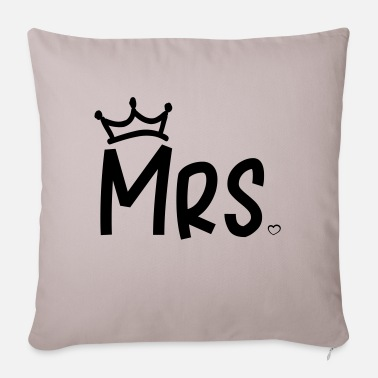 Mrs Mr Wifey mrs_heart_crown - Sofa pillow with filling 45cm x 45cm