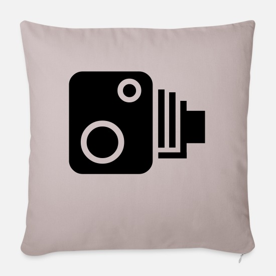 Speed Pillow Cases - Speed Camera - Sofa pillow with filling 45cm x 45cm light taupe