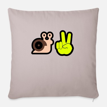 Greeting snail greeting - Sofa pillow with filling 45cm x 45cm