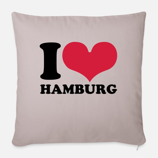 Hamburg Pillow Cases - Hamburg - Sofa pillow with filling 45cm x 45cm light taupe
