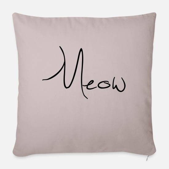 Wife Pillow Cases - Meow - Sofa pillow with filling 45cm x 45cm light taupe