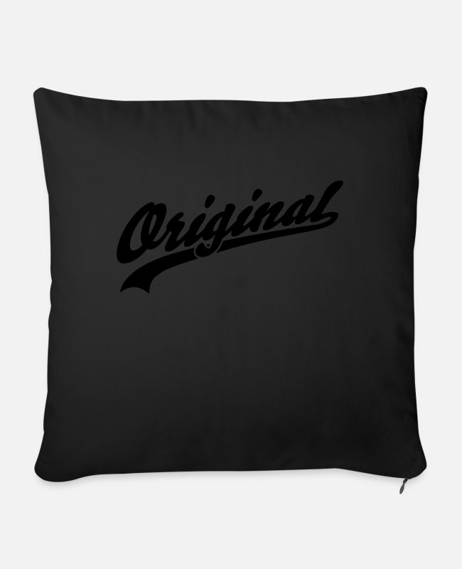 Funshirt Pillow Cases - Original - Sofa pillow with filling 45cm x 45cm black
